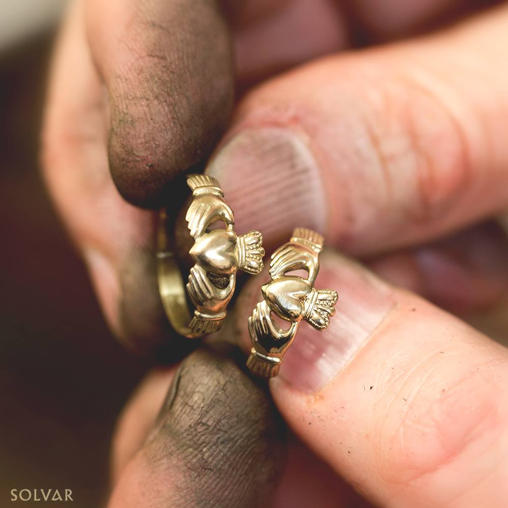 Solvar handcrafted Claddagh rings