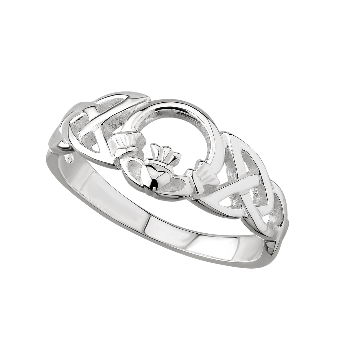 Silver Claddagh Celtic Ring
